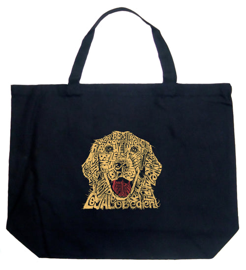 Large Word Art Tote Bag - Dog