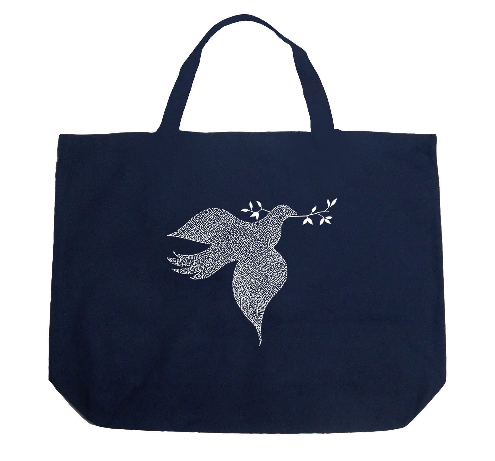 Los Angeles Pop Art Large Tote Bag - Dove