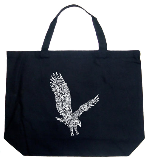 Large Word Art Tote Bag - Eagle