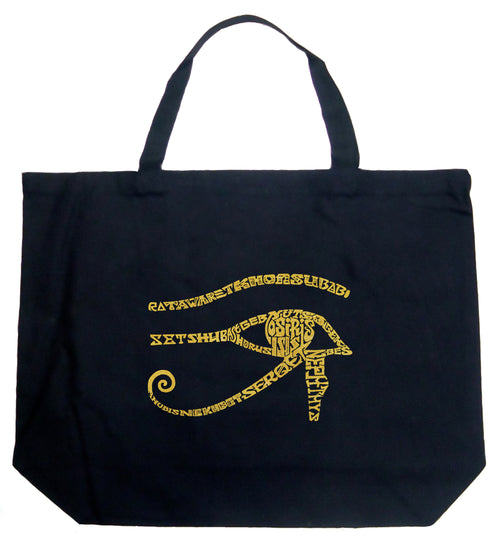 Large Word Art Tote Bag - EGYPT