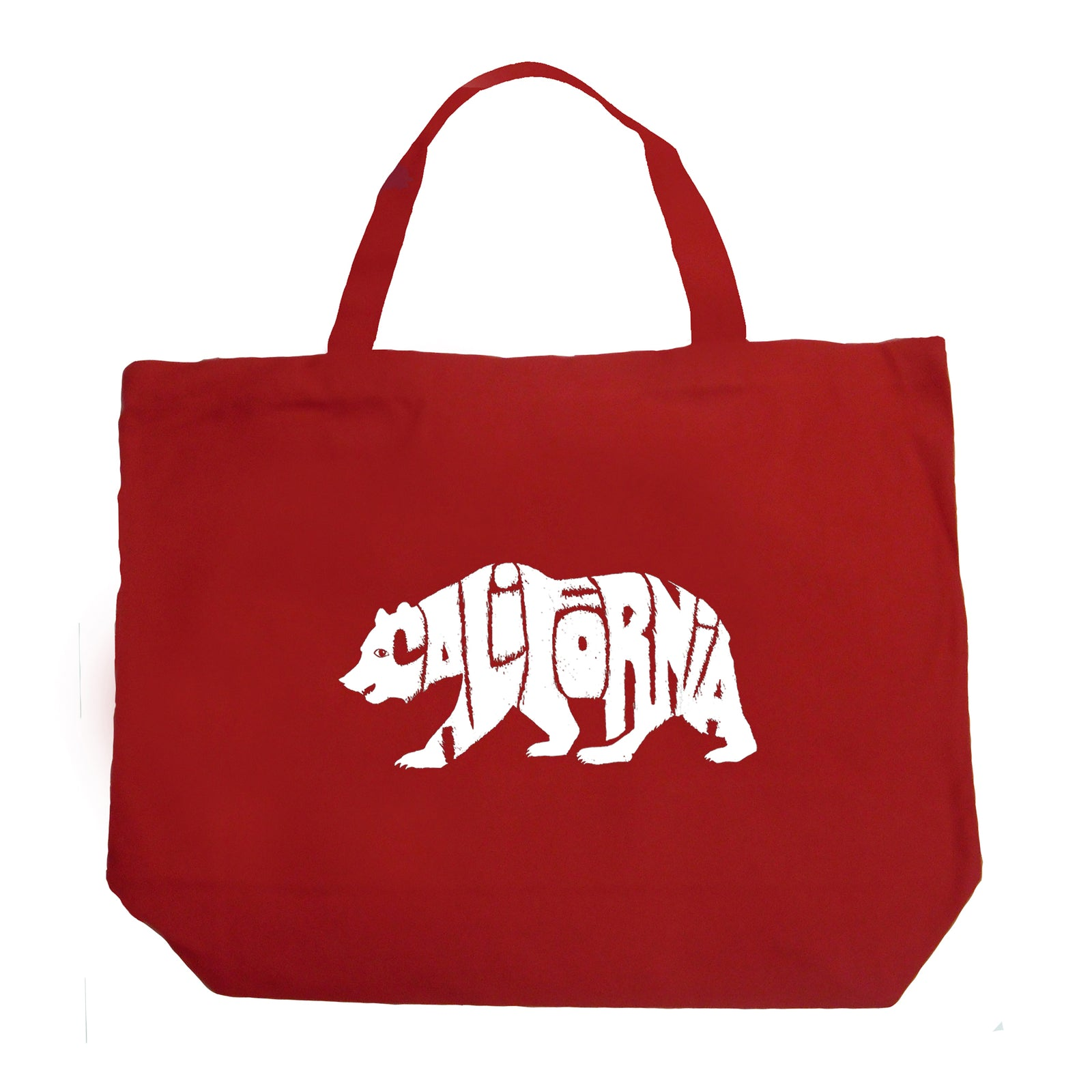 Large Word Art Tote Bag - California Bear