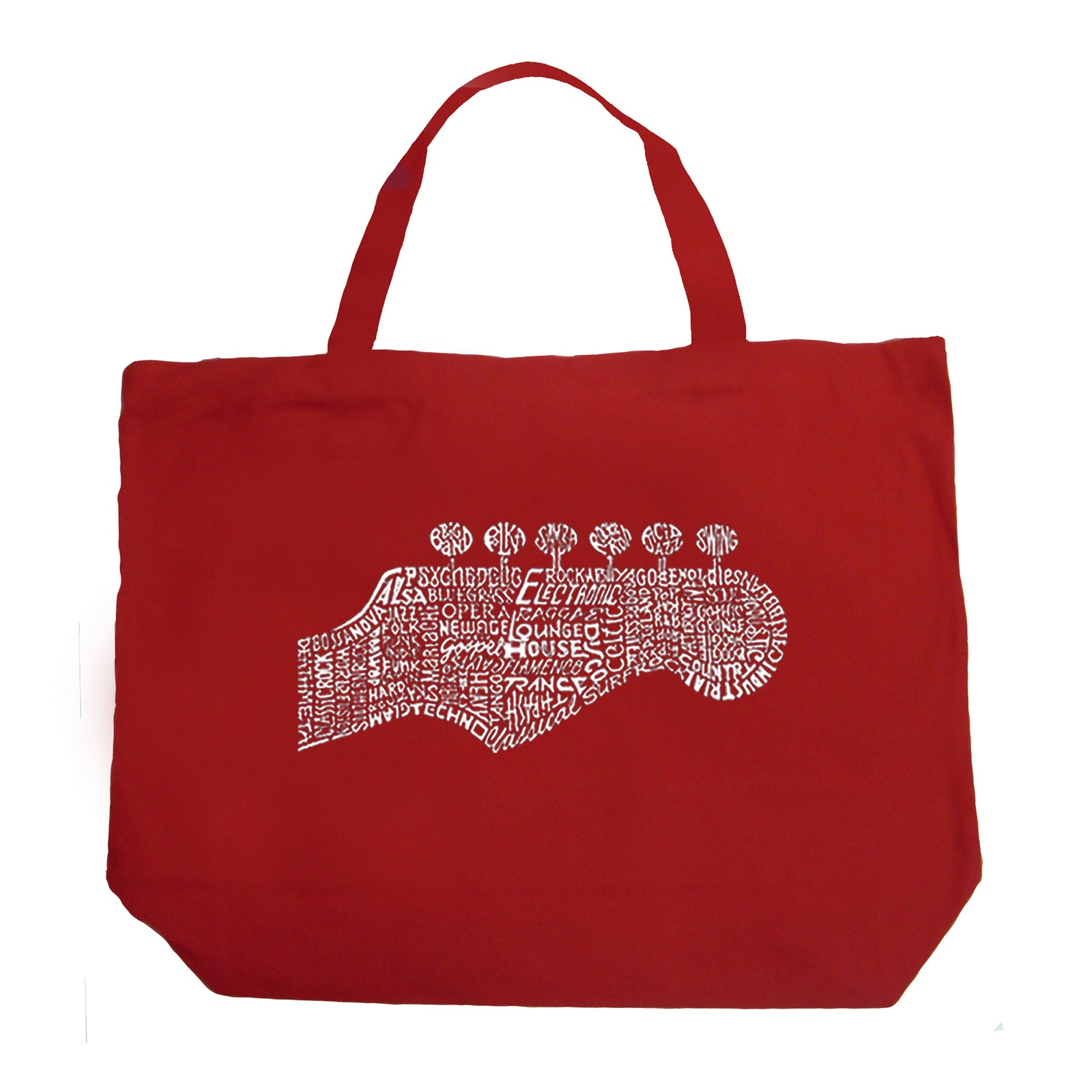 Large Tote Bag - Guitar Head