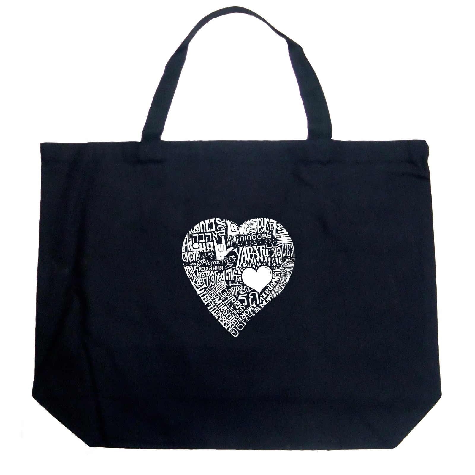 Large Tote Bag - LOVE IN 44 DIFFERENT LANGUAGES