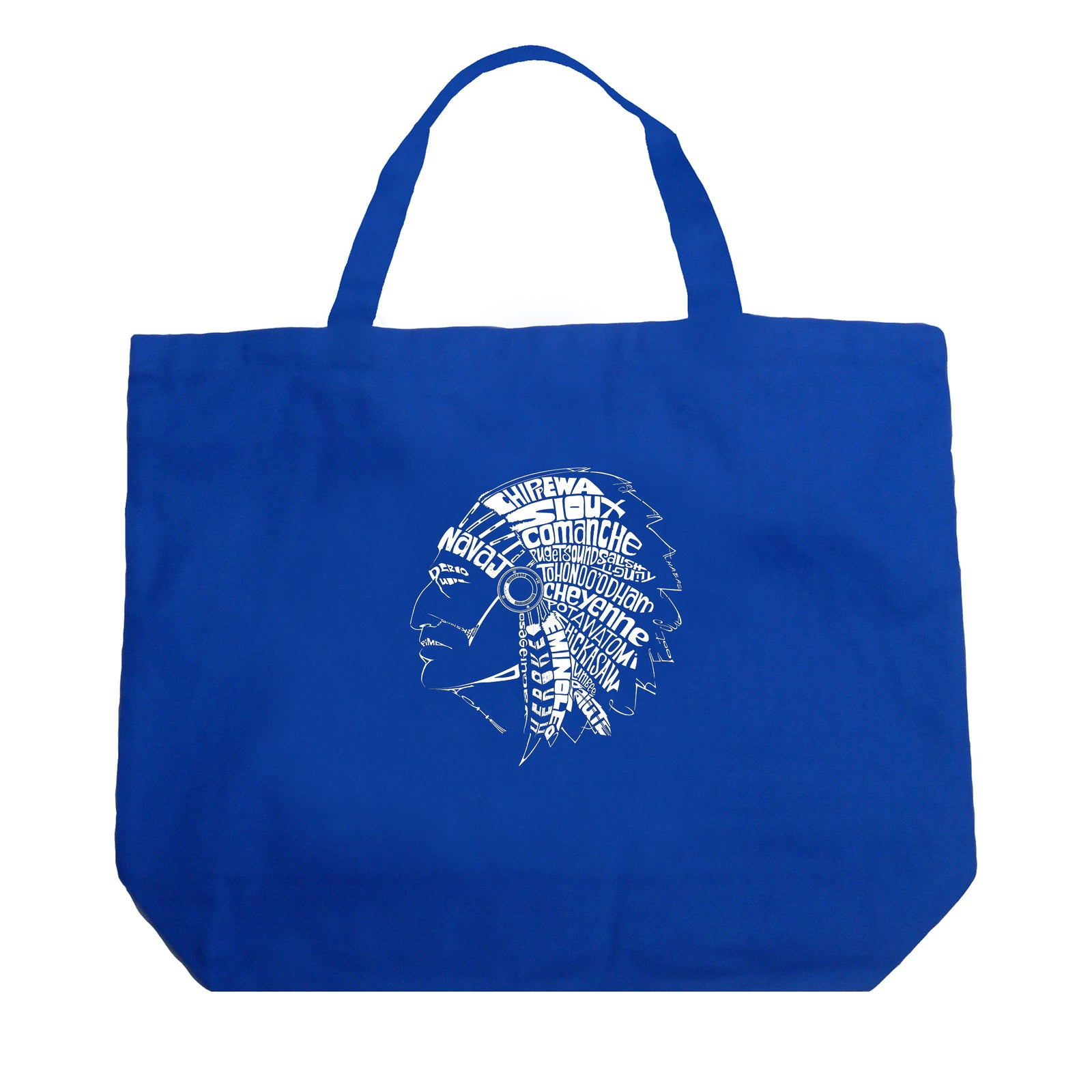 Large Tote Bag - POPULAR NATIVE AMERICAN INDIAN TRIBES