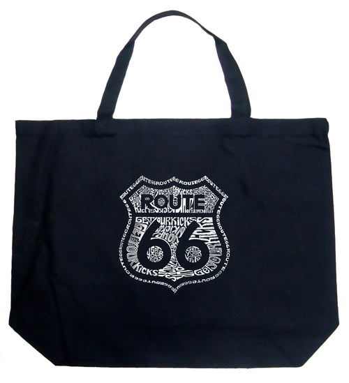 Large Tote Bag - Get Your Kicks on Route 66