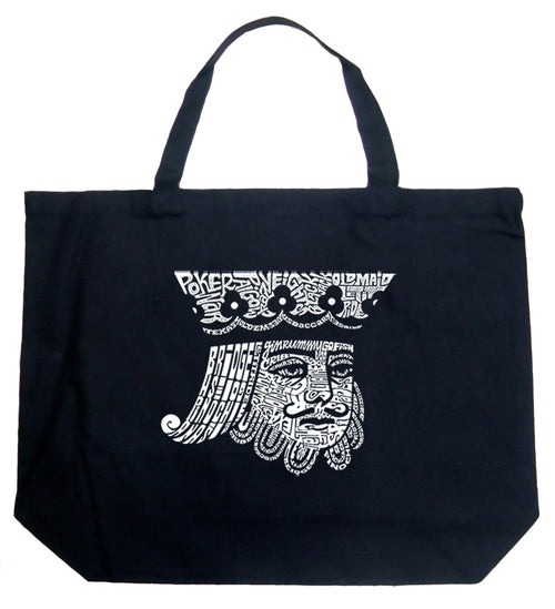 Large Tote Bag - King of Spades