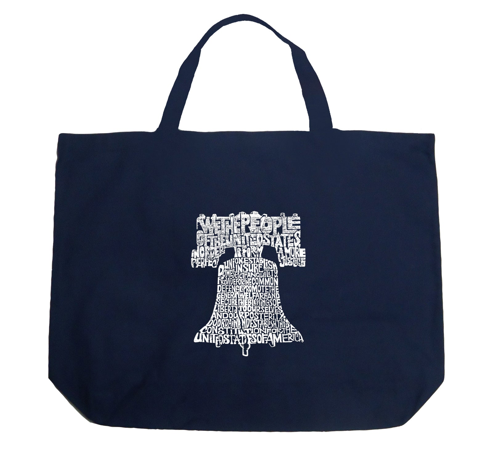 Los Angeles Pop Art Large Tote Bag - Liberty Bell