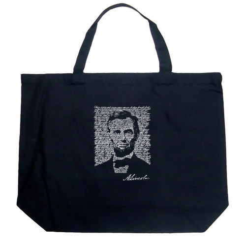 Large Tote Bag - ABRAHAM LINCOLN - GETTYSBURG ADDRESS