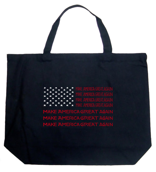 Large Word Art Tote Bag - Maga Flag