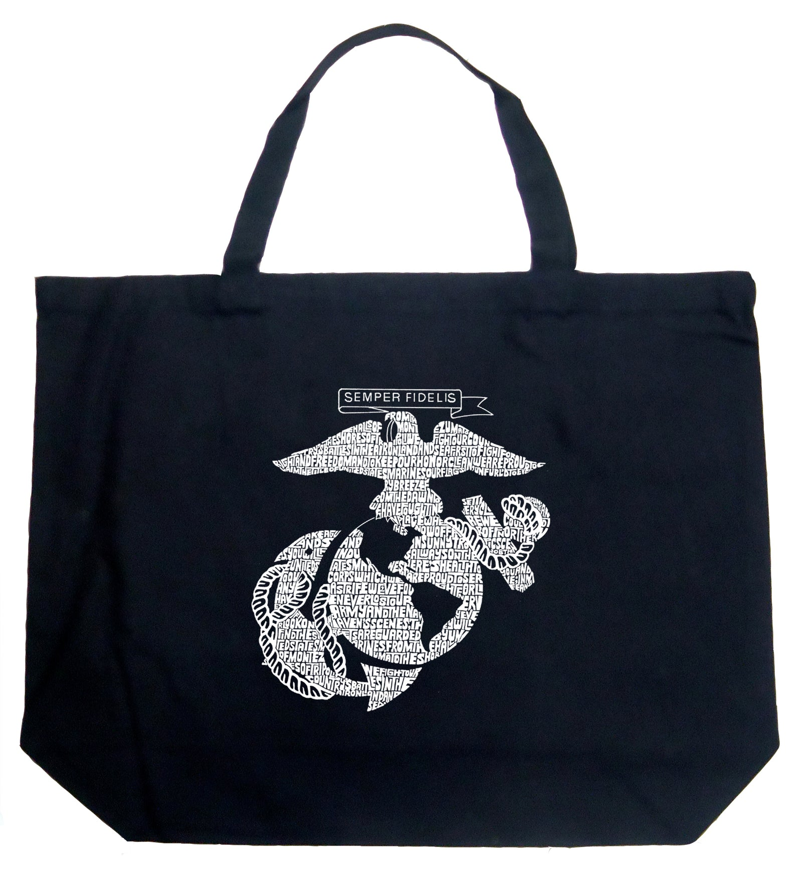 Large Tote Bag - LYRICS TO THE MARINES HYMN