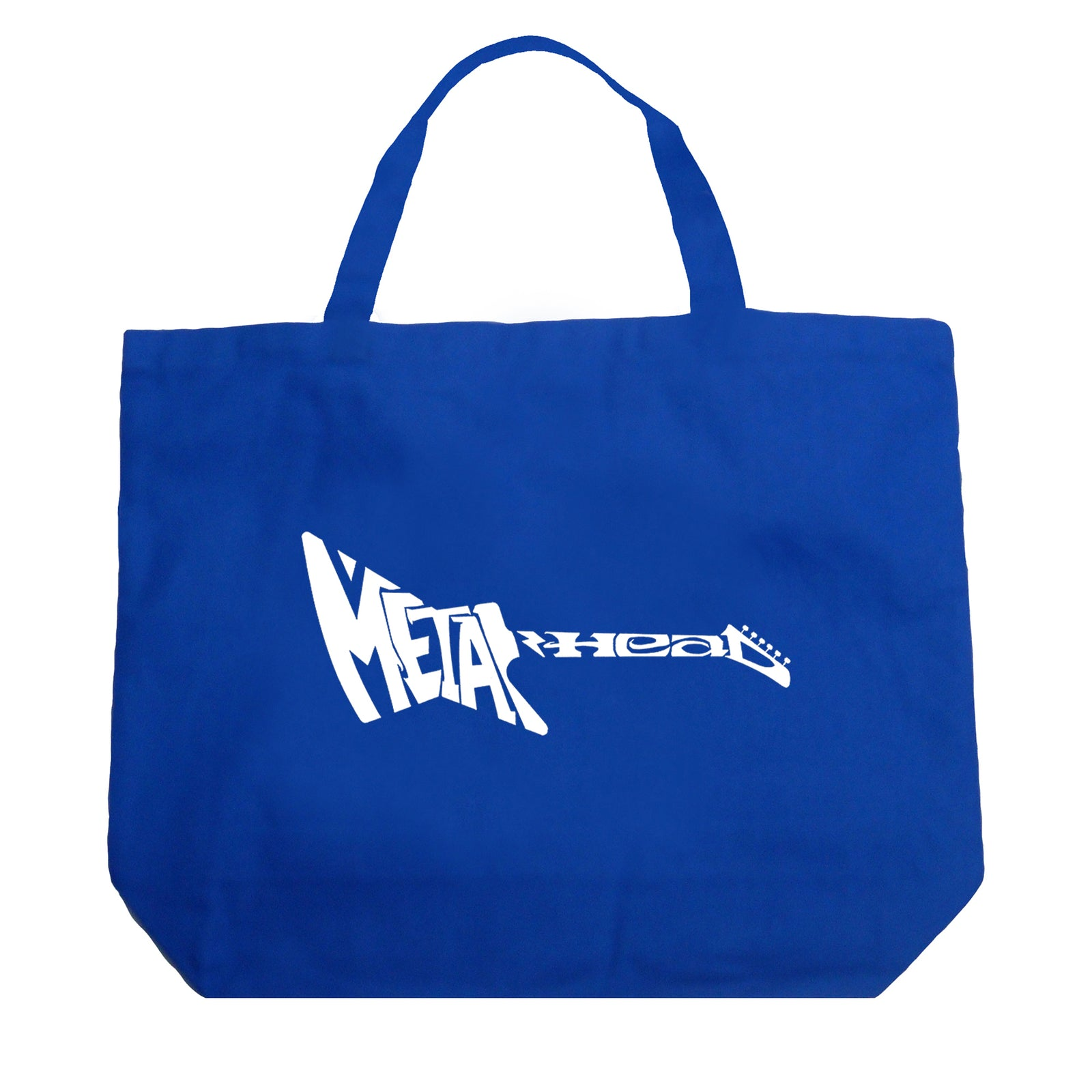 Large Word Art Tote Bag - Metal Head