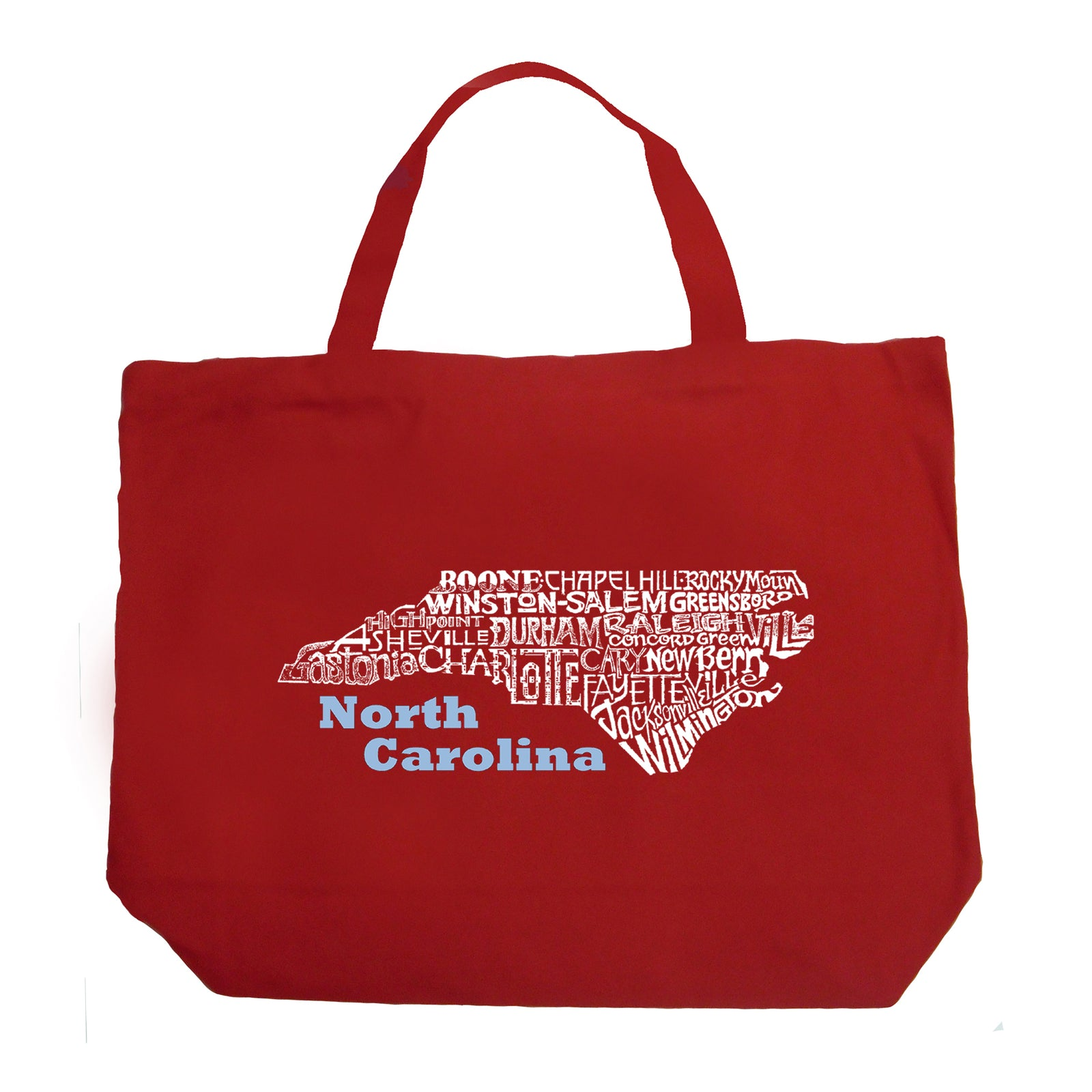 Large Word Art Tote Bag - North Carolina