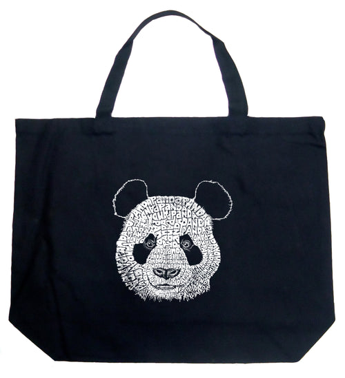Large Word Art Tote Bag - Panda