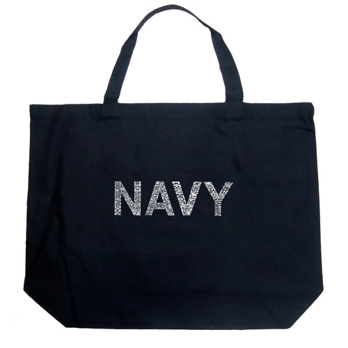 Large Tote Bag - LYRICS TO ANCHORS AWEIGH