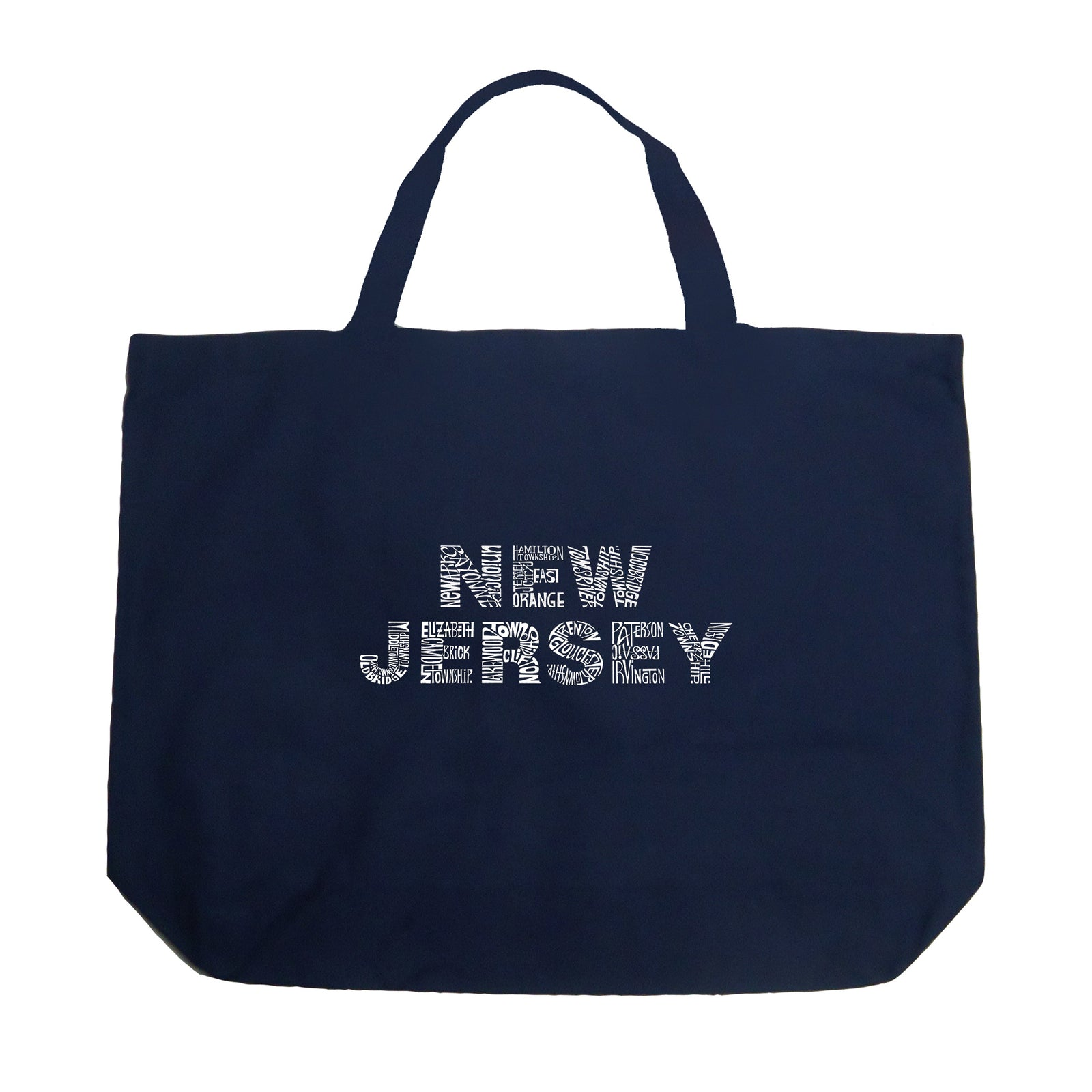 Large Tote Bag - NEW JERSEY NEIGHBORHOODS