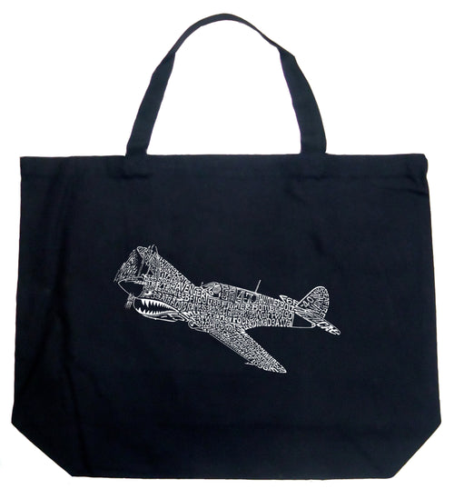 Large Word Art Tote Bag - P40