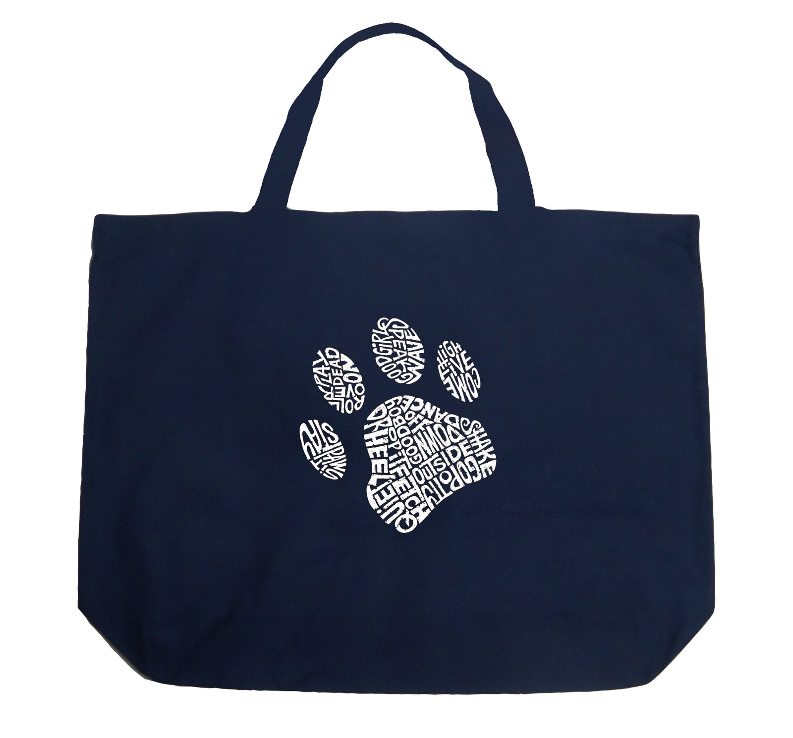 Large Tote Bag - Dog Paw