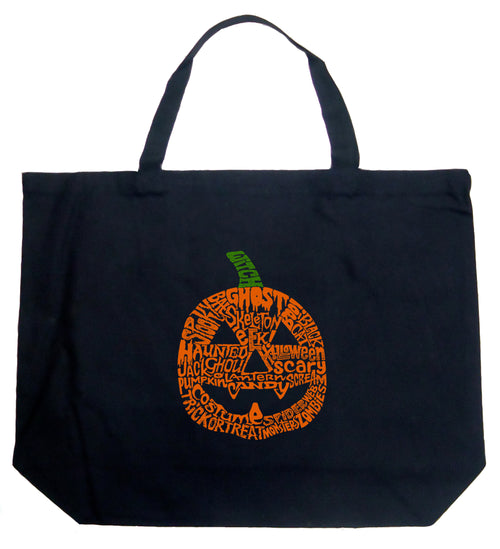 Large Word Art Tote Bag - Pumpkin