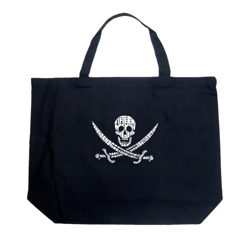 Large Tote Bag - Lyrics To A Legendary Pirate Song