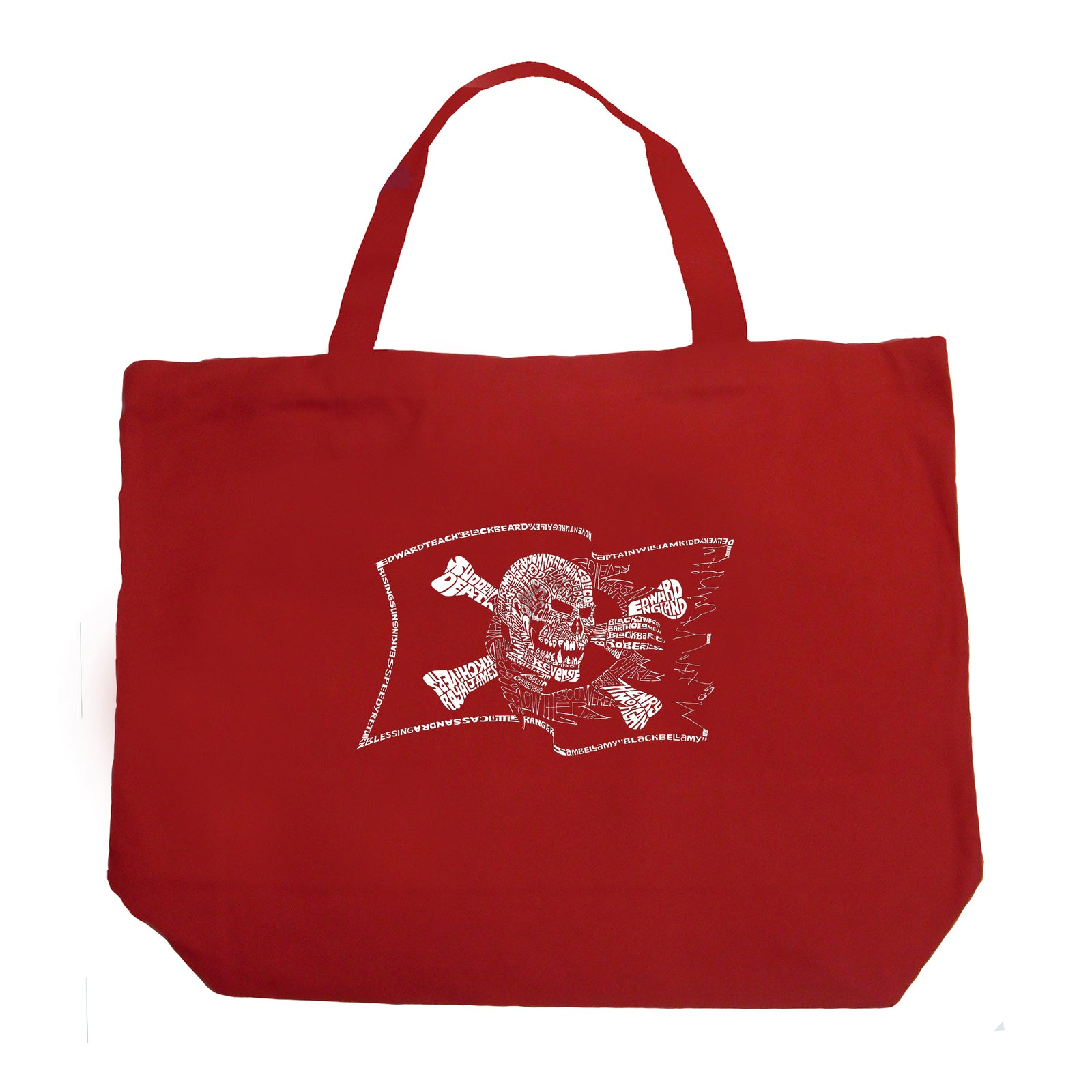 Large Tote Bag - FAMOUS PIRATE CAPTAINS AND SHIPS