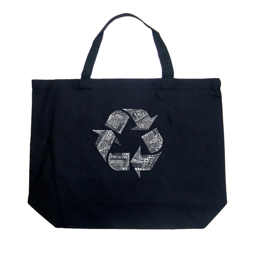 Large Tote Bag - 86 RECYCLABLE PRODUCTS