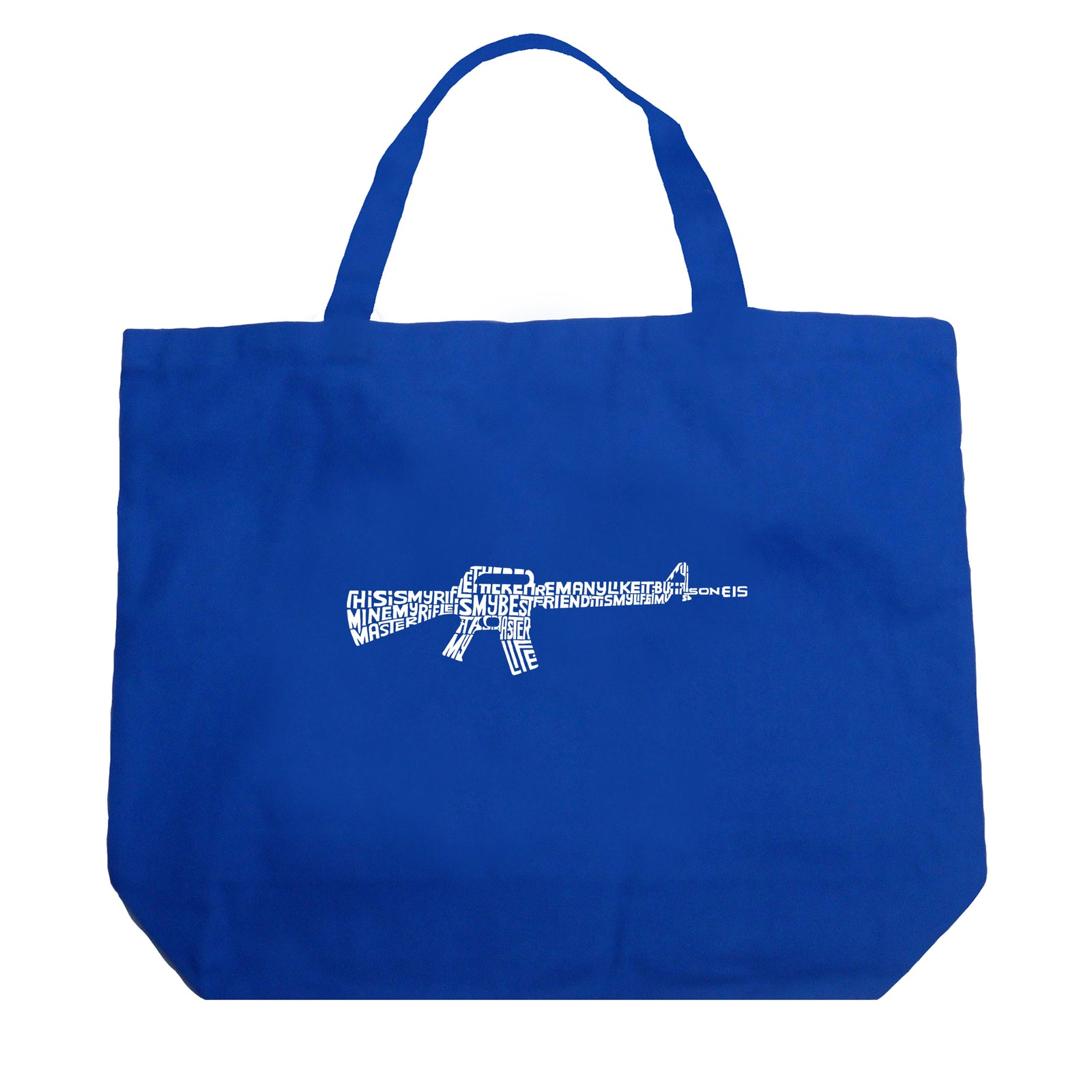 Large Tote Bag - RIFLEMANS CREED