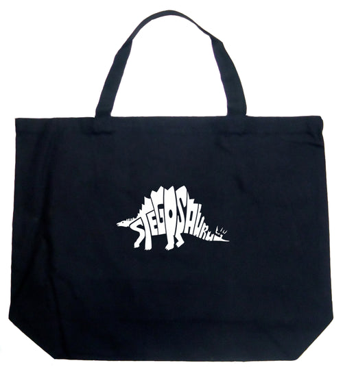 Large Tote Bag - STEGOSAURUS
