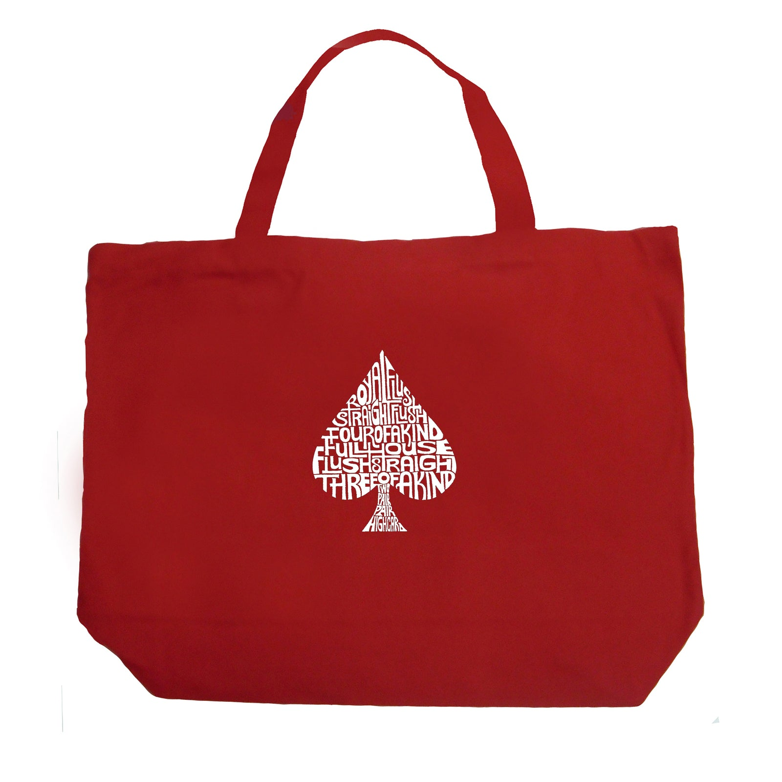 Large Tote Bag - ORDER OF WINNING POKER HANDS