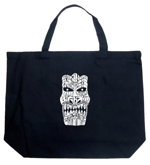 Large Tote Bag - TIKI - BIG KAHUNA