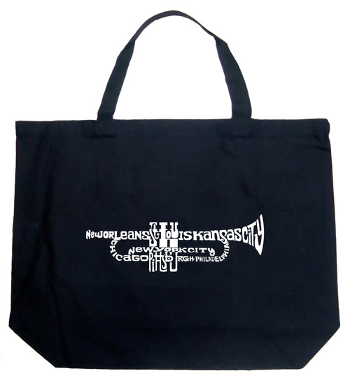 Large Word Art Tote Bag - Trumpet