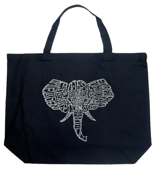 Large Word Art Tote Bag - Tusks