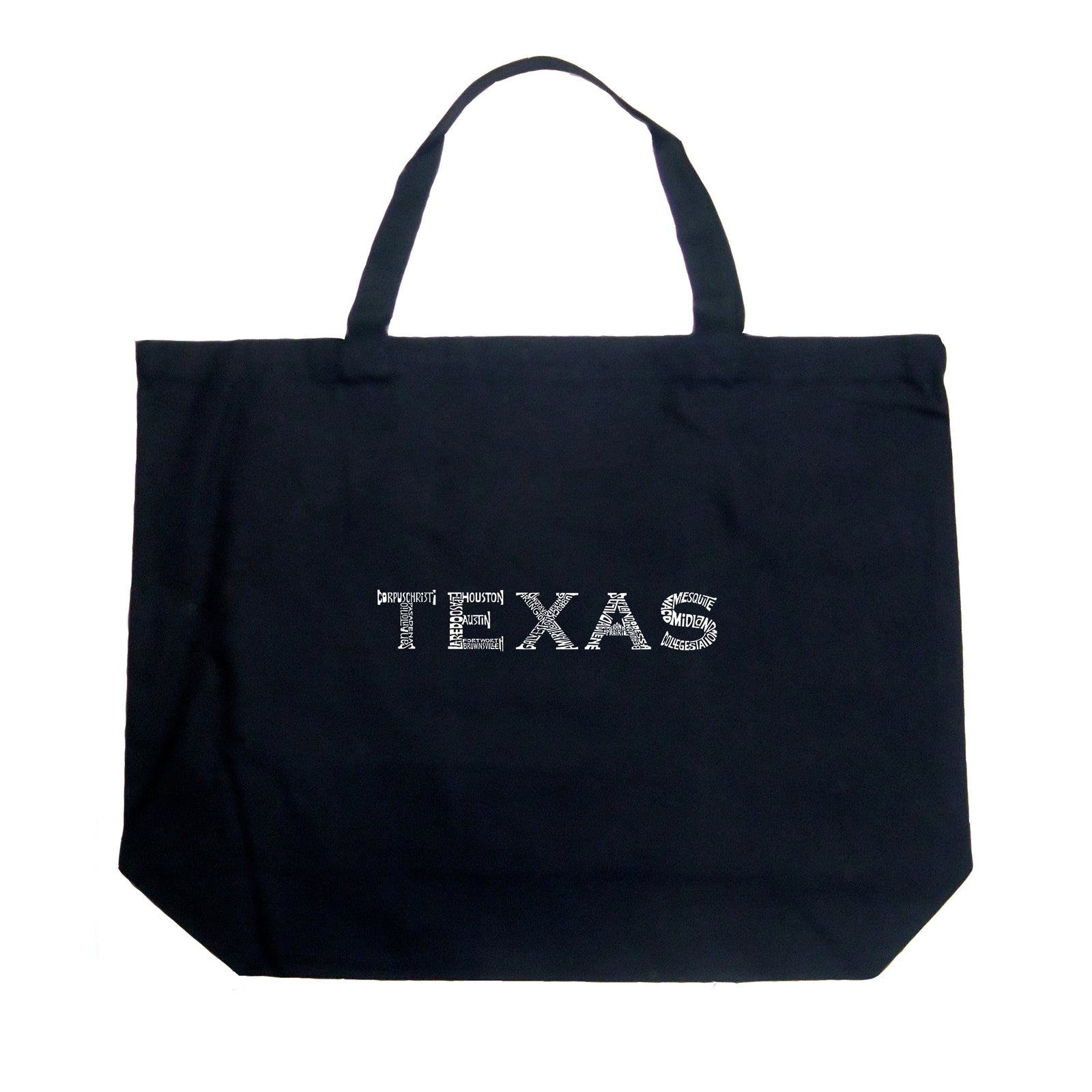Large Tote Bag - THE GREAT CITIES OF TEXAS