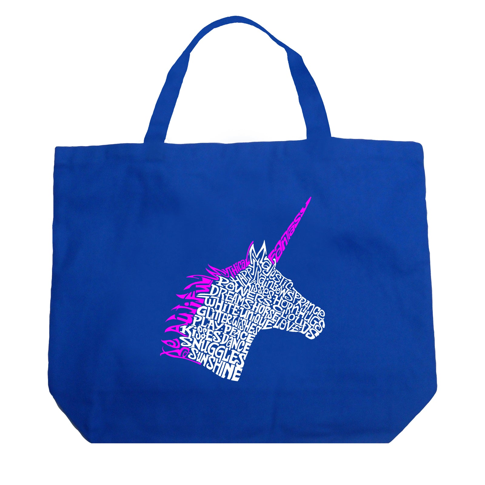 Large Word Art Tote Bag - Unicorn