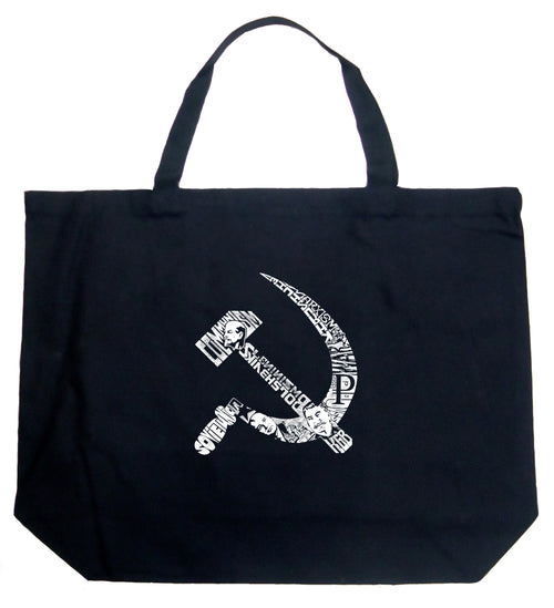 Large Tote Bag - SOVIET HAMMER AND SICKLE