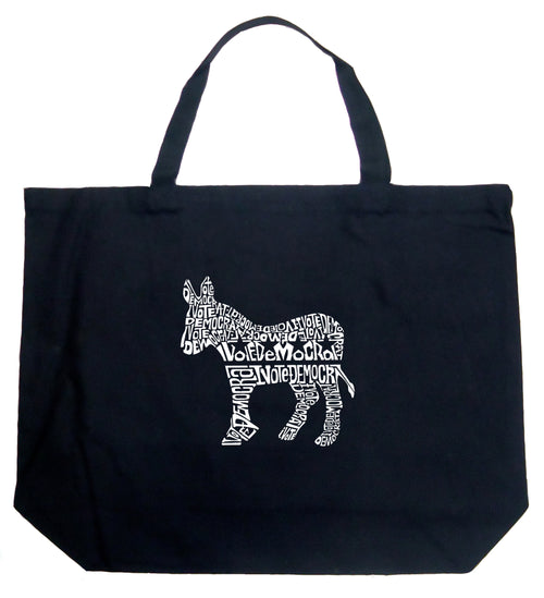 Large Tote Bag - I Vote Democrat