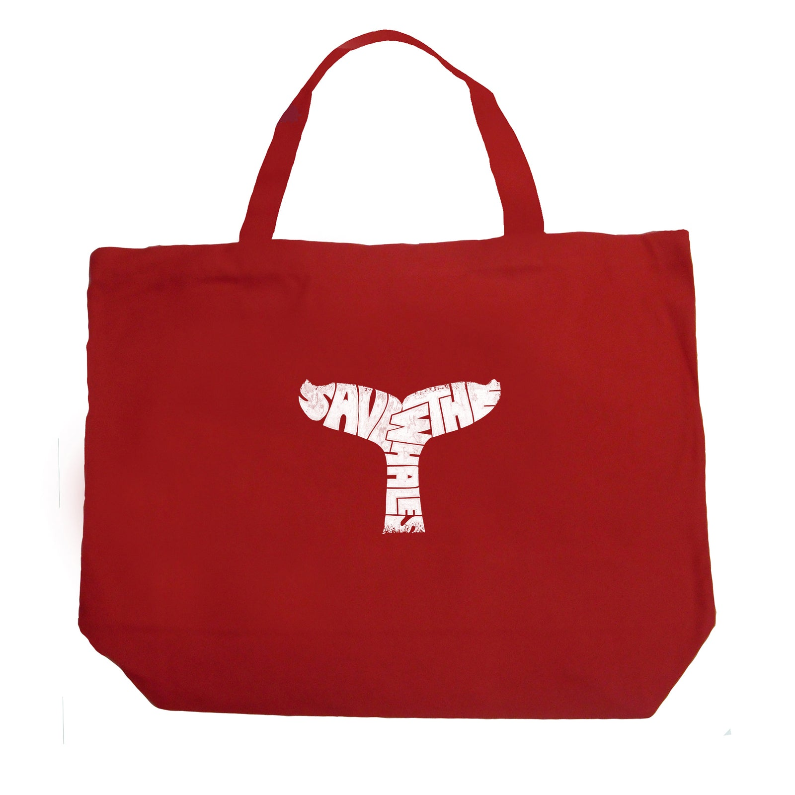 Large Tote Bag - SAVE THE WHALES