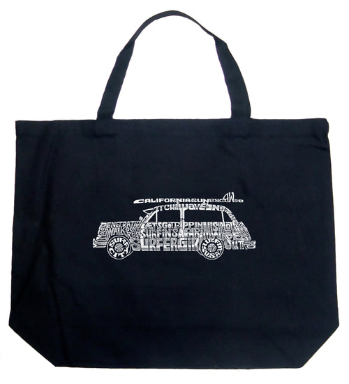 Large Tote Bag - Woody - Classic Surf Songs
