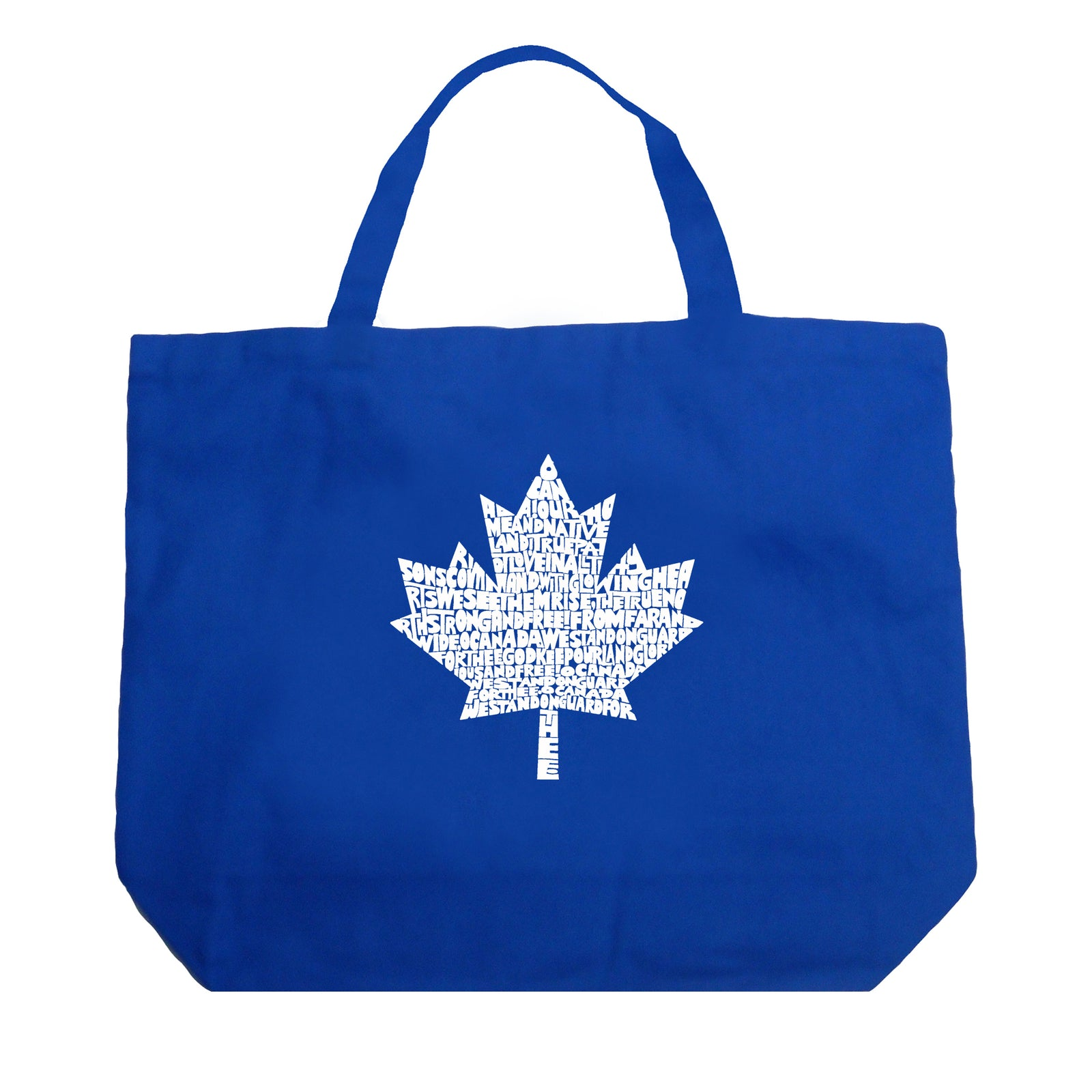 Large Tote Bag - CANADIAN NATIONAL ANTHEM