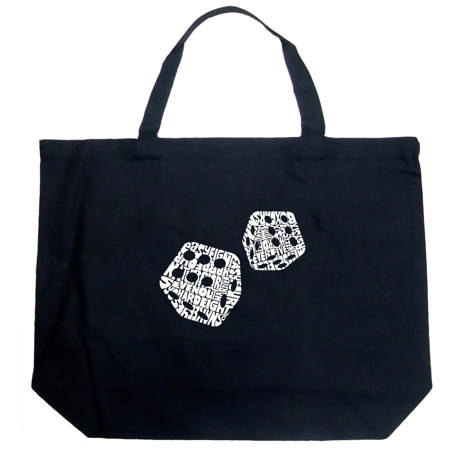 Large Tote Bag - DIFFERENT ROLLS THROWN IN THE GAME OF CRAPS