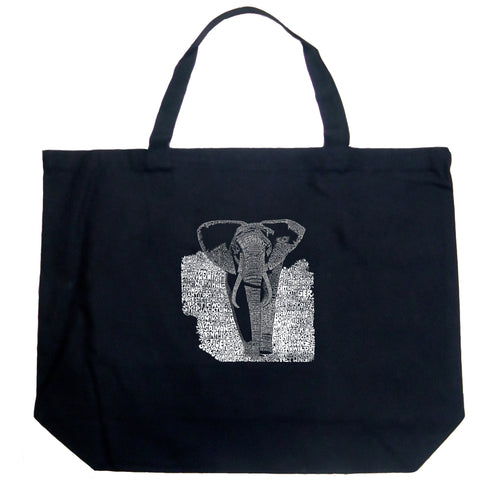 Large Tote Bag - ELEPHANT