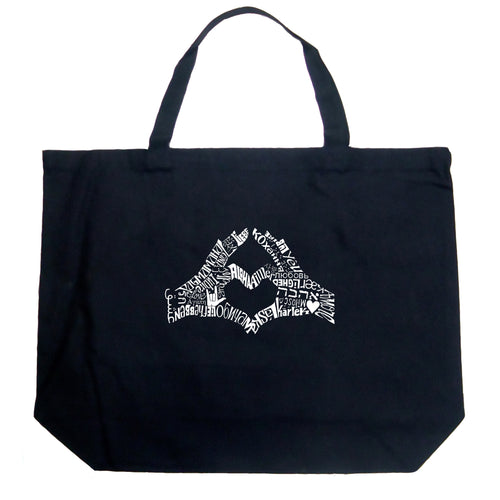 Large Tote Bag - Finger Heart
