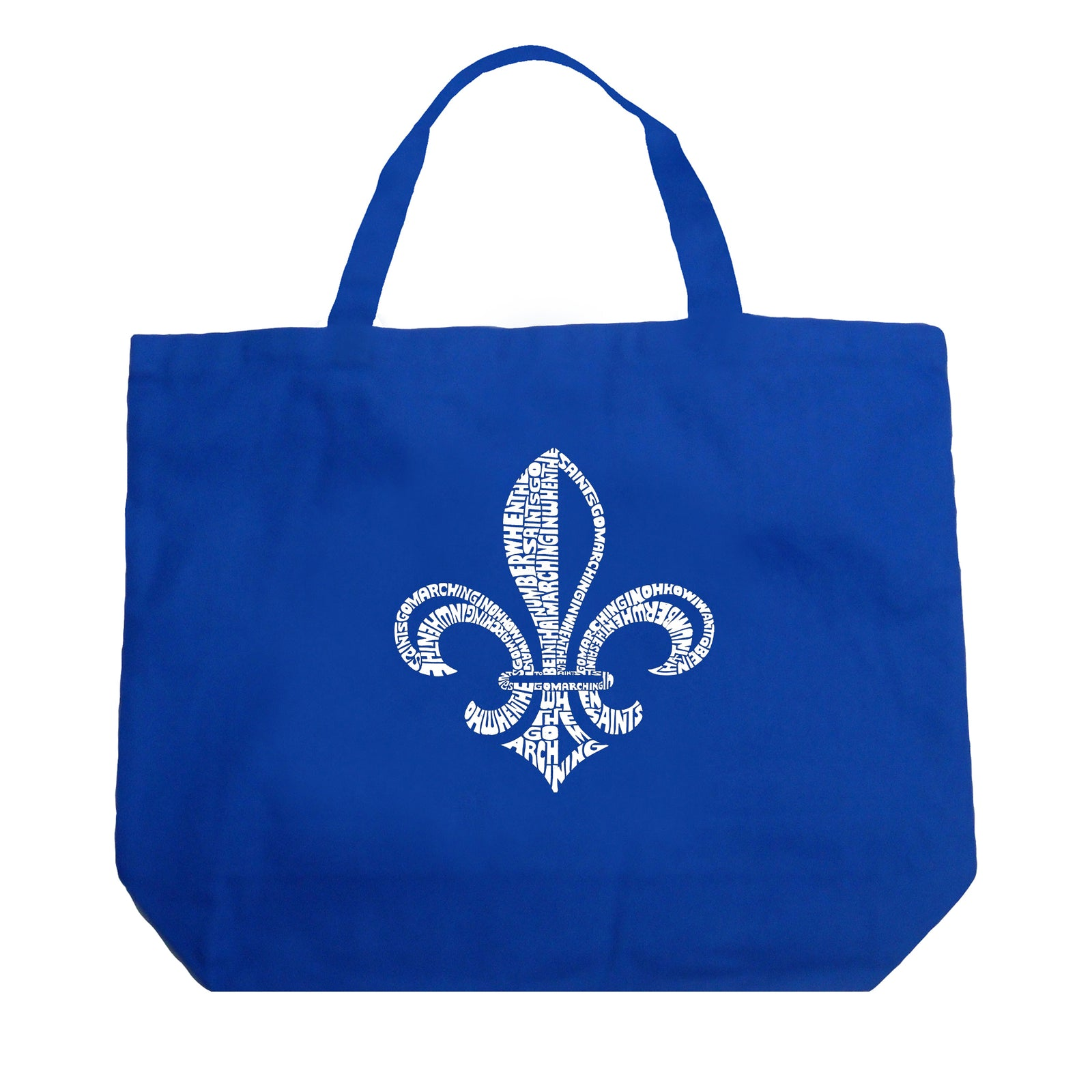 Large Tote Bag - LYRICS TO WHEN THE SAINTS GO MARCHING IN