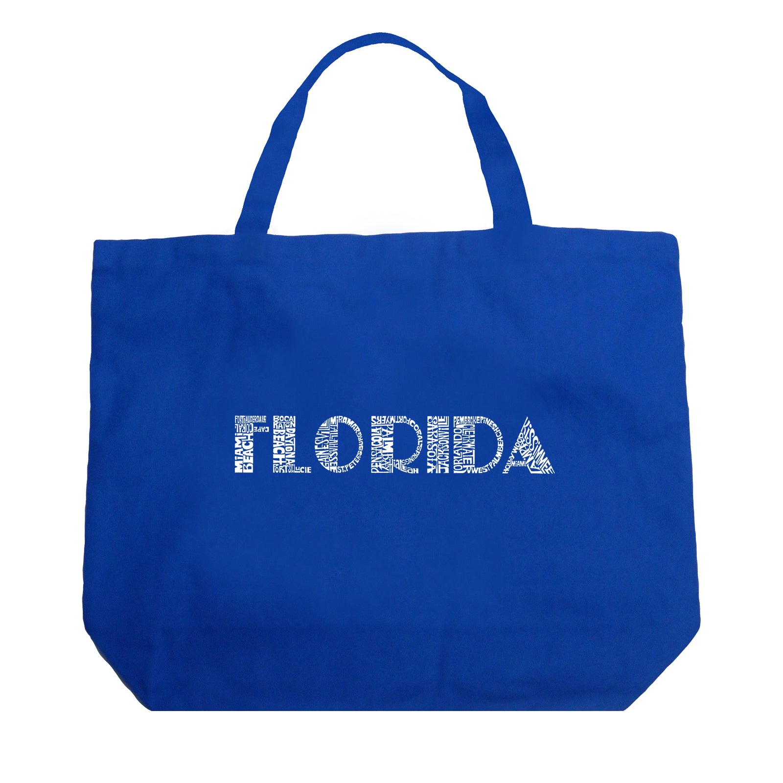 Large Tote Bag - POPULAR CITIES IN FLORIDA
