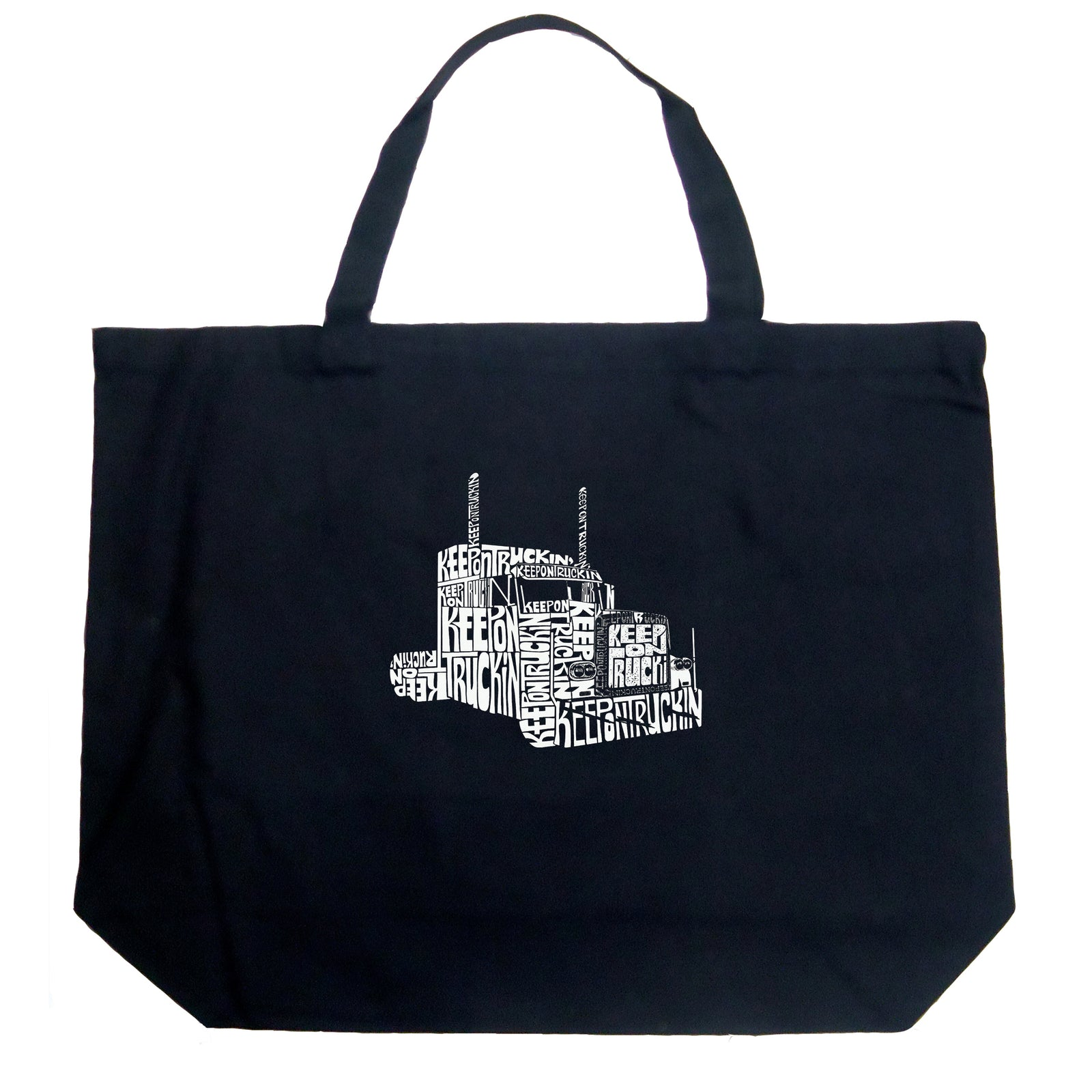 Large Tote Bag - KEEP ON TRUCKIN'