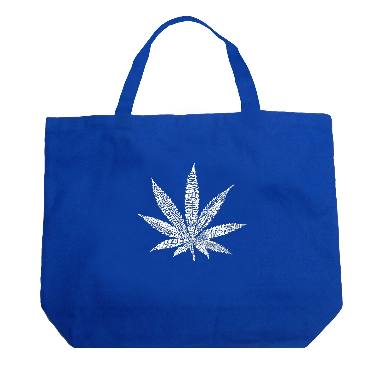Large Tote Bag - 50 DIFFERENT STREET TERMS FOR MARIJUANA