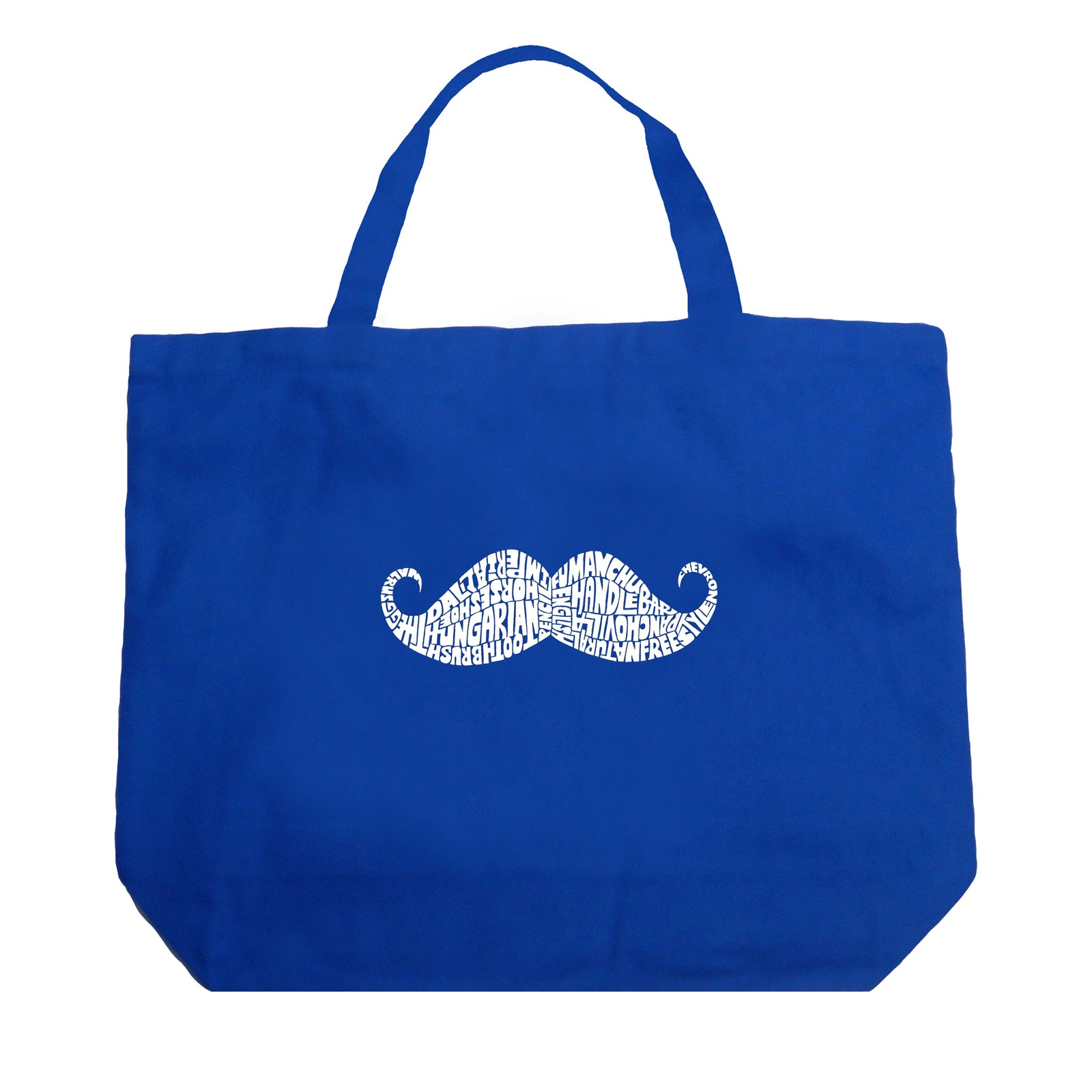 Large Tote Bag - WAYS TO STYLE A MOUSTACHE