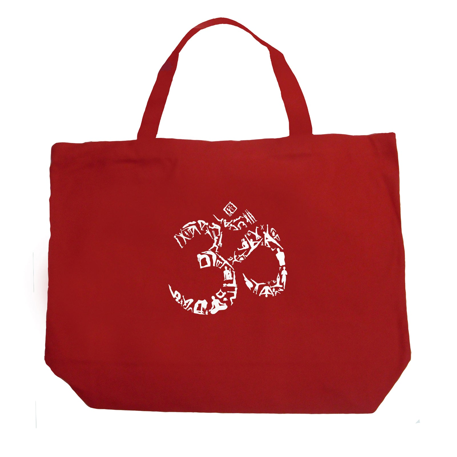 Large Tote Bag - THE OM SYMBOL OUT OF YOGA POSES