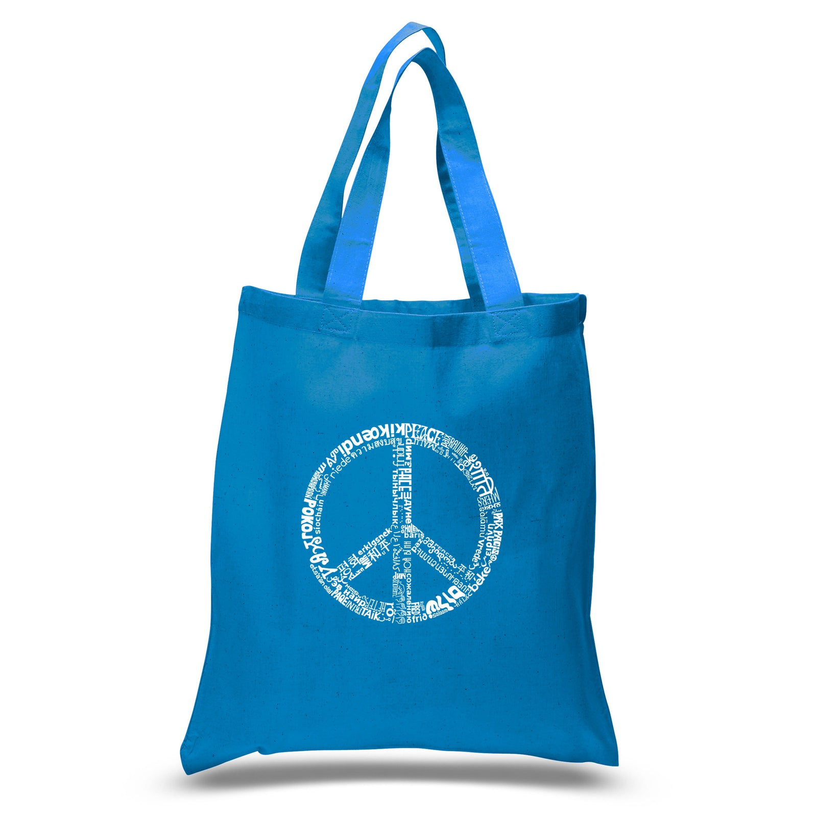 Small Tote Bag - THE WORD PEACE IN 77 LANGUAGES