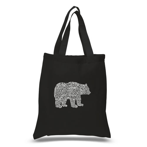Small Word Art Tote Bag - Bear Species