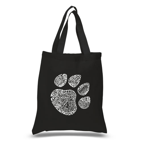 Los Angeles Pop Art Small Tote Bag - Cat Paw